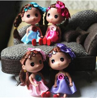 Wholesale Wholesale Small Cloth Dolls - 12CM Hard Head Confused Doll with Head Flower Girl Toys Phone Handbags Pendant Small Baby Gifts for Girls Toy Christmas Gifts G0256 DHL
