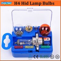 Wholesale H4 Hid Light Set - Brand New 8pcs set H4 Xenon Auto Light Kits Universal Lamp Set HeadLight Bulb 12V H4 Hid Lamp Bulbs Fuse Accessory Set