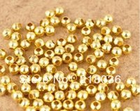 5mm Round Gold Plated Alloy Spacer encantos Encontrando Loose Bail Beads For Bracelets Colar DIY Jóias Findings Acessórios N365