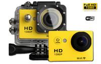 dvr de carro de ação desportiva à prova d'água venda por atacado-SJ6000 W9 Gopro Esporte DV Câmeras Wifi Action Camera Gravador De Vídeo Sem Fio 2.0 polegada 1080 P 170 Wide Angle Carro DVR 30 M À Prova D 'Água