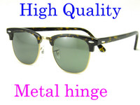 Wholesale Beautiful Womens - Beautiful Metal hinge Plank Tortoise Frame Green Lens UV400 Sunglasses black sun glasses mens Sunglasses womens Brand sunglasses glitter2009