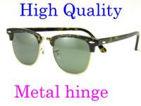 ingrosso belli occhiali da sole-Bella cerniera in metallo Plank Tortoise Frame Green Lens UV400 Occhiali da sole neri occhiali da sole da uomo Occhiali da sole da donna Brand occhiali da sole glitter2009