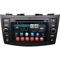 Wholesale Swift Gps Dvd - DC12V Car DVD Players Built in GPS Android Car DVD Players Fit for Suzuki Swift Ertiga 7 Inch Touch Screen Dual Core 7024A