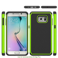 Wholesale Galaxy S Cases Dots - For Samsung Galaxy S6 S 6 Edge Plus Edge+ 2 in 1 Football Dot Rugged Case Fashion Hybrid Dual Color Hard Plastic Soft Silicone Back Cover