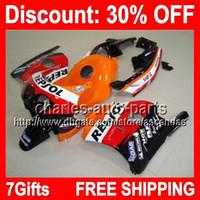 Wholesale 95 Cbr Fairing Kit - 7gifts Repsol Full Fairing Kit For HONDA CBR250RR MC22 CBR 250RR CBR250 RR 1990 1991 1992 95 1996 1997 1998 1999 Fairings Bodywork Body H#