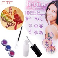 sparkle body art - Glitters Colors Sparkle Powder Designs Body Art Tattoos Brush Glue Kits