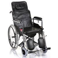 Wholesale Steel Wheelchair - yuwell H059B handicapped wheelchairs for elderly folding portable wheelchairs for the disabled toilet steel disable wheelchair