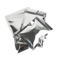 Wholesale Resealable Food Pouches - Glossy Silver Aluminum Foil Zip Lock Mylar Bag Flat Resealable Pouch With Zipper For Food Tea Storage 6 Sizes
