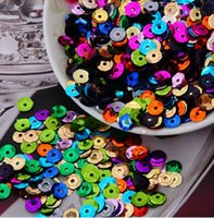 Wholesale Loose Cup Sequins - 2500pcs 30g 6mm silver-based colors PVC round cup loose sequins Paillettes sewing wedding Craft ,Women Garment Diy Accessories 21-26