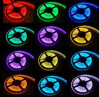 Wholesale Led Lights Strips For Homes - Hot sale 5M Set 3528 rgb 5m RGB led strip Light led Strips light 3528 LED waterproof for home decoration free shipping