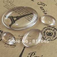Wholesale Magnifying Domes - Wholesale-100pcs lot, Good Quality 18*25mm Dome Oval Transparent Clear Magnifying Glass Cabochon