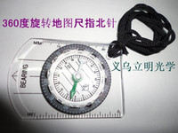 Wholesale Ruler Scale - 2016 Hot! New Mini Baseplate Compass + Map Scale Ruler for Outdoor Location map scale Camping Hiking Cycling Scouts