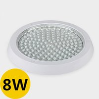 Großhandels-3Pcs / lot 8W LED-Deckenleuchte AC85-265V Surface Mounted Weiß Kreis-Panel Licht 74Pcs Leds Transparent Hartglas-Maske