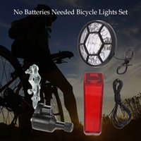 Wholesale Needs Bicycle - Best Gifts Bicycle Lights Set Kit Bike Safety Front Headlight Taillight Rear light Dynamo No Batteries Needed