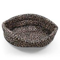 Wholesale Pet Nest Dog House Kennel8 - Wholesale-Poodle yorkshire leopard print thin summer pet nest cat dog accessories kennel8 cat litter