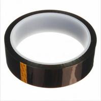 bga tape achat en gros de-Ruban Polyimide Kapton haute température résistant à la chaleur double face de 25mm x 33m pour BGA