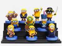 Wholesale Wholesale Mini Despicable Figures - hot sale Despicable Me 3 Minions Toys Dolls 10pcs set Boxed PVC Mini Figures Child Kids Toys Christmas gift