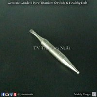 Punta a sfera e punta raschiante Titanio Dabber, 60mm, Safe Genuine CP GR2 Pure Titanium, Smoke Shop all'ingrosso