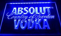 Wholesale Vodka Signs - LS032 Absolut Vodka Country of Sweden Beer Neon Bar Light Sign