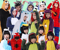 Wholesale Panda Costumes For Adults - MaxDream Unicorn Stitch Panda Unisex Flannel Hoodie Pajamas Costume Cosplay Animal Onesies Sleepwear For Men Women Adults Child