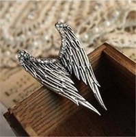 trade-Schmuck retro-dimensionalen diamond angel wings-ring-öffnung weibliche models D083