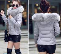 Wholesale Collor Fur - Wholesale-winter jacket women down coat women's down jackets hiver cotton jacket female cotton-padded coat Winter Large Fur Collor XXL