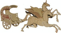 Wholesale Wooden Military Toys - Wholesale-Educational Toys Model Hippomobile Flying Horse Diy Wooden 3D Puzzle