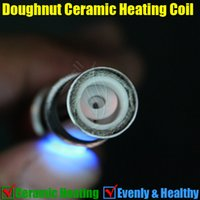 Wholesale gax tank for sale - Group buy Doughnut Full Ceramic Coils pure rebuildable Replacement core head for glass globe Atomizer Donut Vase Shape Vhit gax Cannon Bowling Tank