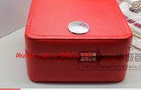 буклет смотреть оптовых-Роскошный Новый Квадратный Красный Для Omega Box Смотреть Буклет Карты Теги И Документы На Английском Языке Часы Box Оригинальный Внутренний Внешний Мужчины Наручные Часы Box