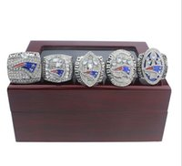 Wholesale New Rings - New Arrived Free Shipping 5PCS Ring set 2001 2003 2004 2014 Newest 2017 England Patriots Championship Ring ( 50pcs DHL free shipping)