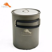 Wholesale Titanium Bbq - TOAKS POT-850 Titanium Cup With Handle Single-person Outdoor Camping Lightweight Cup For Picnic Camping Travelling BBQ Portable 100g