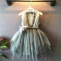Wholesale Korean Wedding Gown Wholesale - korean kids clothes spring summer girls clothes girls princess party layers of lace feather dress girls wedding dress
