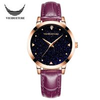 2017 Viuibueture Bright Star Rosa pieghevole cintura Learther Fashion Ladies Watch impermeabile Business Pin Buckle Buartz orologio