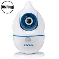 mini wifi ip kamera weiß großhandel-Escam Penguin Günstige 2 way audio überwachungskamera IP internet drahtlose baby video bewegungsmelder kamera wifi für baby zimmer + B