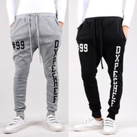 Wholesale Hot Slacks - Wholesale-New Hot Men Joggers Casual Harem Hip Hop Dance Sport Sweat Sport Pants Trousers Slacks