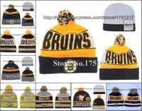 Wholesale Discount Sports Hats For Men - Wholesale-Retail Top Quality Boston Bruins Discount Beanies Fashion Sport Hockey Skullies Caps Winter Out Door Warm Funny Pom Hats For Men