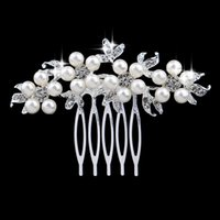 Wholesale Whosale Wedding Accessories - Whosale Cheap Headbands With Comb Free Shipping Pearls Shinning Bridal Hair Accessories Tiaras Wedding Jewelry HIgh Quality WWL