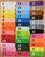 "Wholesale Crocheted Baby Headbands - 2015 Wholesale 1.5"" Crochet Kid's Headbands Waffle Headwear for Baby Toddler Girls,Christmas Gift Headband-J739"