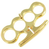 Wholesale Gear Equipment - Mafia Gold plating Knuckle dusters Golden Metal alloy Brass knuckles Self Defense tool Personal Security equipment Iron fists Boxing gloves