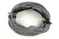 Wholesale Guitar Amp Led - 30ft Electric Guitar Cable Amp Lead Cord Amplifier Cable Audio Connection Cable For Electric Guitar Silver Color Free Shipping