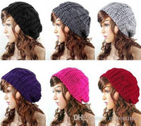 2017 i nuovi 500pcs / lot nuovi arrivi Lady Winter Warm Knitted Slochet Slouch Baggy Beret Beanie Hat Cap