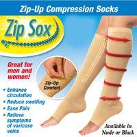 Wholesale Sexy Shaper For Women - Zip Sox Compression Socks Zip-Up Zipper Stockings For Women Leg Support Shaper