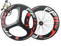 Wholesale Tri Bike Carbon Wheels - FFWD FAST FORWARD 70mm Tri Spoke and 88mm Carbon Fibre Road Fixed Gear Wheels Clincher Tubualr Glossy Matte Finishing Wheels+Quick Release