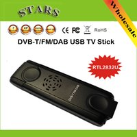 Digital eztv645 TV USB RTL2832U vara Tuner Receiver Dongle com antena para DVB-T / FM / DAB Suporte WIN7 LINUX SDR, Dropshipping