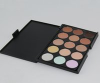 Wholesale Pro Tools Mixing - 2016 Professional 15 Colors Concealer Foundation Contour Face Cream Makeup Palette Pro Tool for Salon Party Wedding Daily DHL free