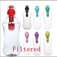 sports water bottle filter - Portable Stylish Random Colors Outdoor hiking ML Bike Sports Hydration Filter Filtration Water Bottle Bicycle Cycling Drink Bottle Cup