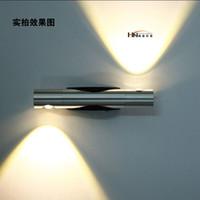 ingrosso lampade da lettura a muro da letto-Moderno 6W LED applique da parete bagno bagno camera da letto lettura lampada da parete lampada a specchio dell'hotel luce luci home decor