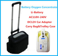 oxygen shop - 110V V DC12V L Portable Oxygen Concentrator JAY With rechargeable Li ion Battery Car Adapter for Medical Home Travel Shopping Use