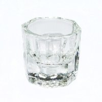 nagelkunst glas dappen teller großhandel-Großhandelsoktogonale Form-Glasschalen-Dappen-Teller-Behälter für Arcylic Nagel-Kunst-flüssiges Pulver