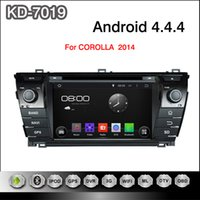 Wholesale Toyota Android Capacitive - Android 4.4.4 7inch Capacitive Touchscreen Car DVD Player For Toyota Corolla 2014 With GPS Navigation 3G WIFI PC Bluetooth